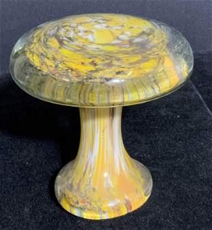 Handmade Artisan Glass Mushroom Paperweight