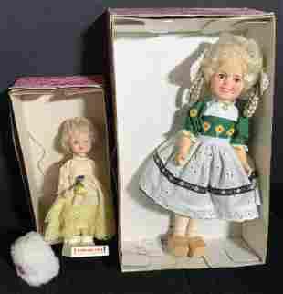 Lot 2 Vintage Shirley Temple Dolls W/ Original Box