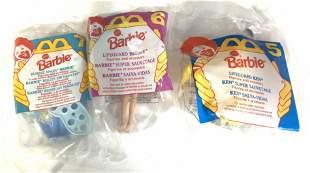 Lot3 Mc Donalds Miniature Barbies Org Package 1994