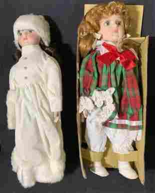 Lot 2 Vintage Christmas Dolls