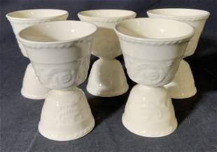 Set 5 Vintage Porcelain Egg Cups