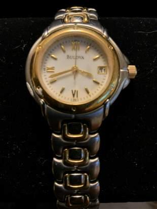BULOVA two Tone Wrist Watch,