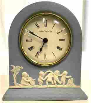 Vintage WEDGWOOD Jasperware Desk Clock