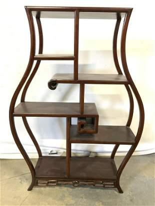 Vintage Chinese Rosewood Display Shelf
