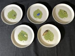 Set 5 LIMOGES A VIGNAUD Porcelain Dishes
