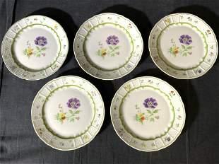 Set 5 HEINRICH W GERMANY Porcelain Dishes