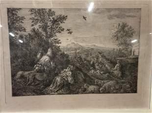 Landscape Pilgrimage Engraving Artwork