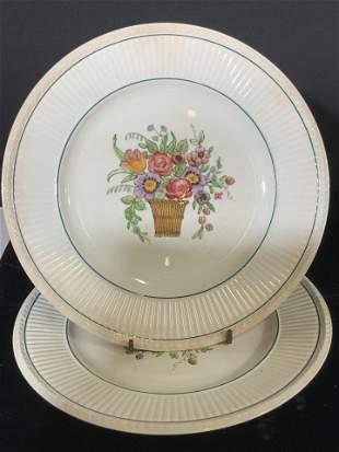 Pair VNTG WEDGWOOD BELMAR Ceramic Plates, Signed