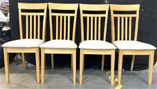 Set 4 YEO AIK WOOD Wooden Dining Chairs