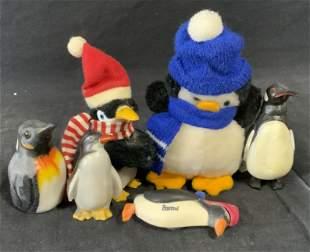 Group Lot 6 Penguin Decor Items