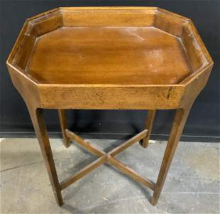 BRANDT Vintage Wood Veneer Side Table