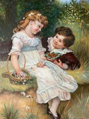 M ALLWOOD Signed Oil Painting Artwork