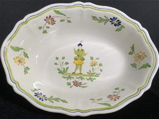 Pr MOUSTIERS Hand Painted French Ceramic Bowls