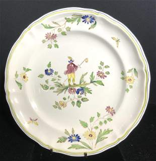 MOUSTIERS HandPainted French Ceramic Serving Plate
