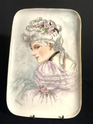 LIMOGES FRANCE Hand Painted Porcelain Plate