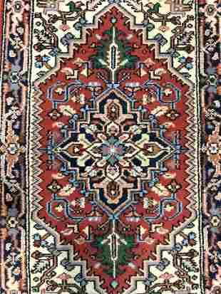 Vintage Handmade Fringed Wool Rug