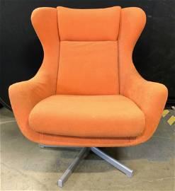 MCM Arne Jacobsen Orange Swivel Lounge Chair