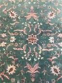 Vintage Handmade Wool Pile Oriental Room Size Rug
