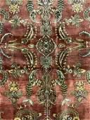 Vintage Oriental Fringed Wool Rug
