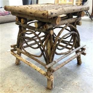 Vintage Wooden Adirondack Side Table