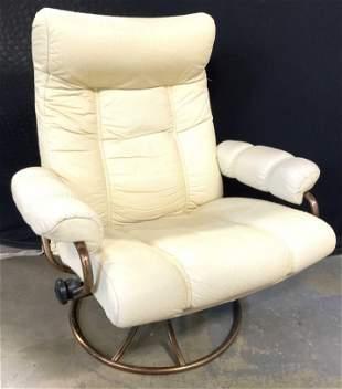 EKORNES Scandinavian Modern Lounge Chair & Ottoman