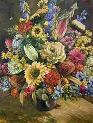 RICHARD STEWART Signed Oil on Canvas Still Life
