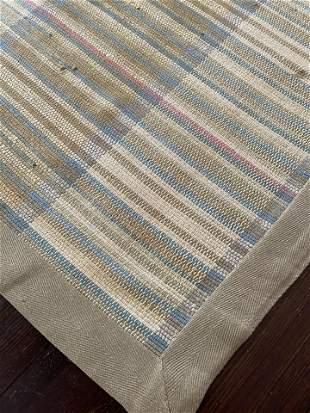 Custom Flat Weave Striped Carpet