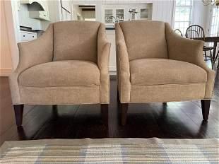 Pair Mitchell Gold DESIGNER Beige Arm Chairs