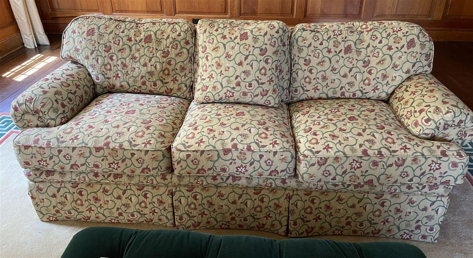Custom Made Kravet Designer Floral Sofa