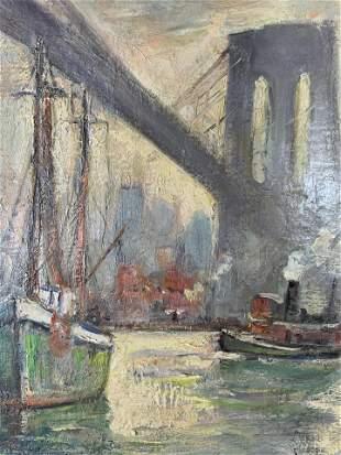 BELLA DE TIREFORT Signed Oil Painting 1962