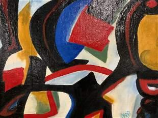 NICHOLAS CAPUTI Signed Abstract Oil Painting