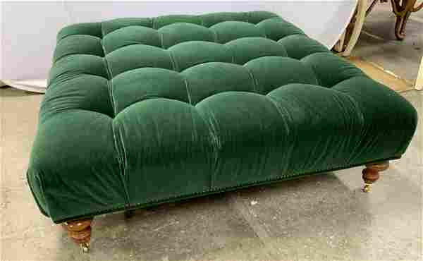 Tufted Chesterfield Style Oversized Ottoman