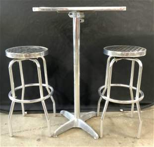 Set 3 Industrial Modern Cafe Stools & Table