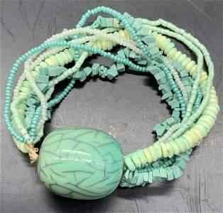 Multi Strand Beaded Statement Stretch Bracelet