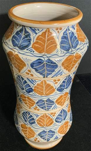 Vintage Handcrafted & Hand Painted Ceramic Vase