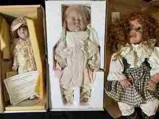 Lot 3 Vintage Dolls