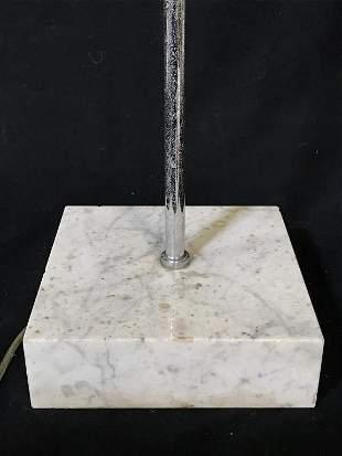 Mid-Century Minimalist Floor Lamp W Marble Base