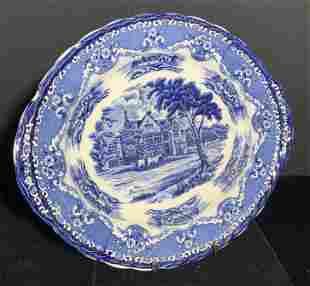 Vintage GRINDLEY Staffordshire Porcelain Plate