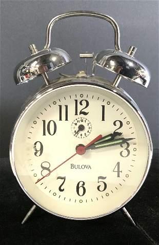 BULOVA 36 Hour Key Wind Alarm Clock