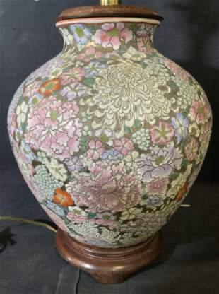Asian Porcelain Vase Lamp