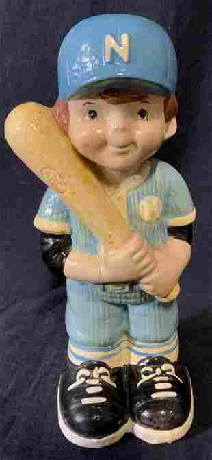 Vintage Ceramic Baseball Player Bank