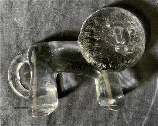 KOSTA BODA Glass Lion Paperweight