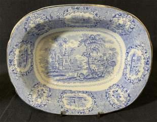 Ceramic Blue & White RIDGWAY ORIENTAL Bowl