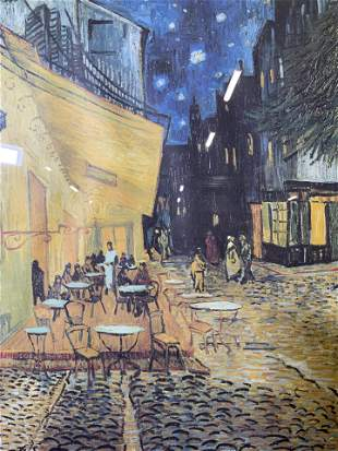 Offset Lithograph of Van Gogh Painting