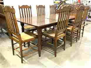 Lot 9 Vintage Dining Table & Chairs