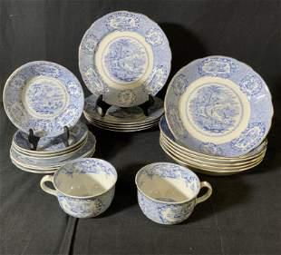 Set 20 Vintage RIDGWAY Dinnerware