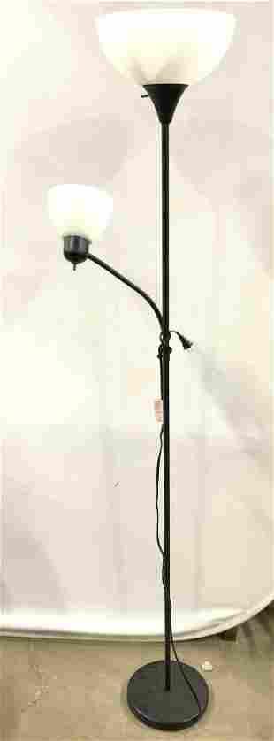 Metal Floor Lamp W Adjustable Arm
