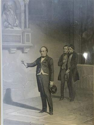 Engraving of Daniel Webster, Artwork