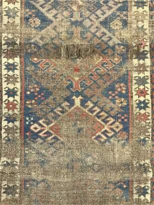Antique Handmade Kazak Wool Rug