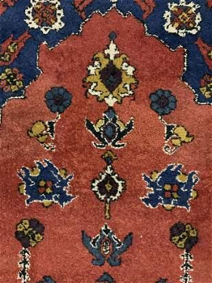 Fringed Wool Persian Area Rug